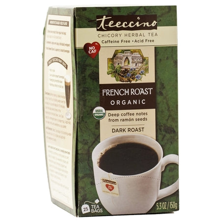 french roast caffeine free herbal coffee teebags (bx25) | TEECCINO