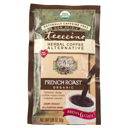 french roast caffeine free herbal coffee 30g (bx12) | TEECCINO