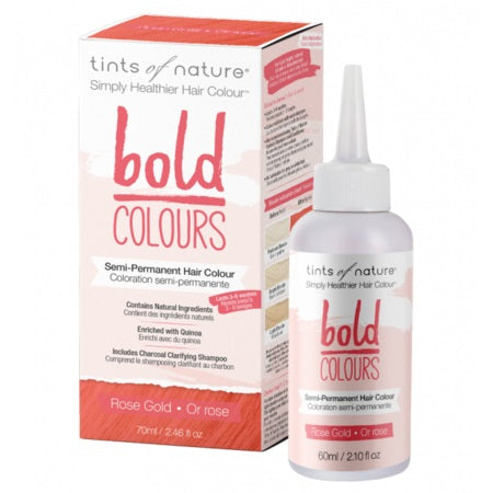 Tints Of Nature Bold Semi-Permanent Rose Gold 70ml