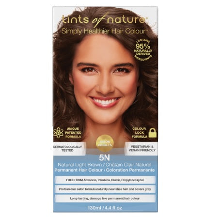 Tints Of Nature Natural Light Brown Permanent 5N 130ml