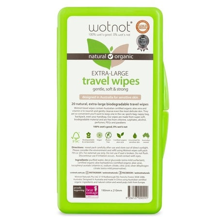 Wotnot Travel Wipes Hard Case 20Pk (Bx16) | WOTNOT