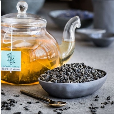 Infuse Tea Gunpowder Tea Pouches 15Pk | INFUSE TEA COMPANY