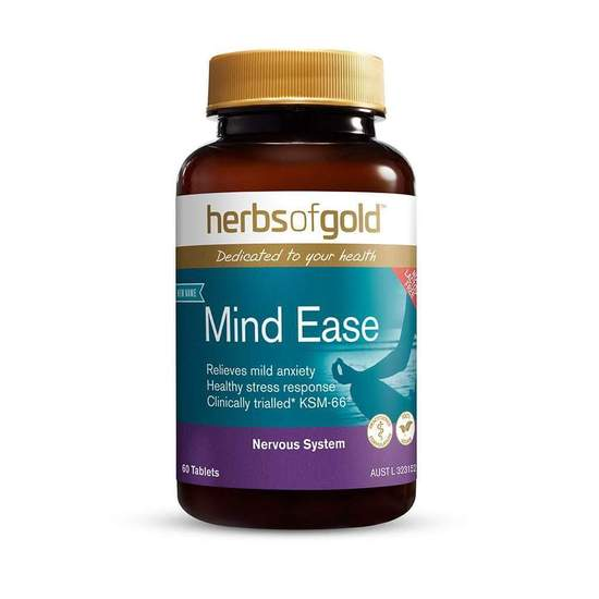 Herbs of Gold Mind Ease 60 tabs (Formerly Stress Ease)