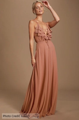 nude dress wedding guest neutral