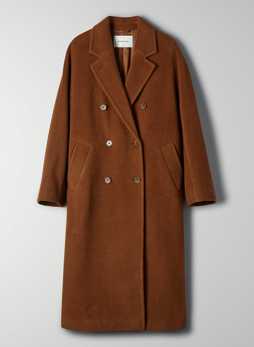 Slouch Wool Coat Double-breasted camel coat