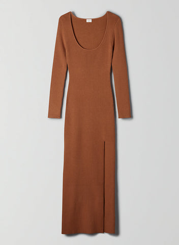 MAEVE DRESS LONG-SLEEVE BODYCON MAXY DRESS