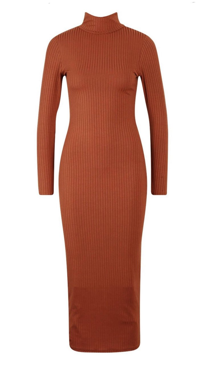 Nia Long Sleeve Dress In Ginger