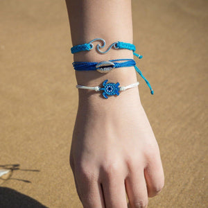 sea turtle bracelet stack