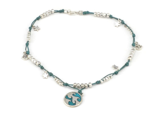 wave necklace turquoise