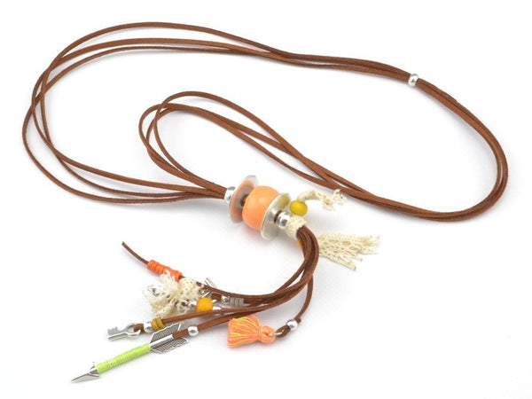 Boho Multistrand Suede Leather Necklace