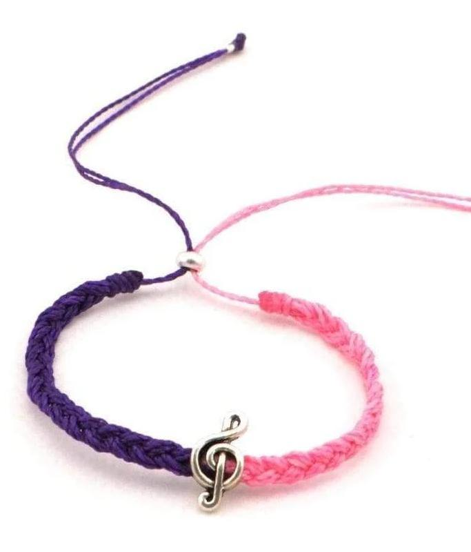 music braided string anklet