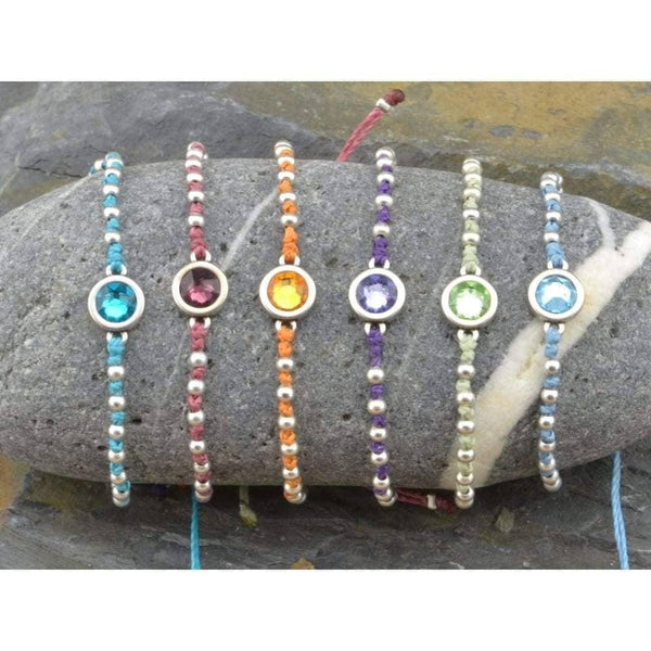 Bracelets @ ${shop-name - April birthstone string bracelet, April charm bracelet, April birthday jewelry