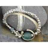 stretch bracelet with recycled glass beads