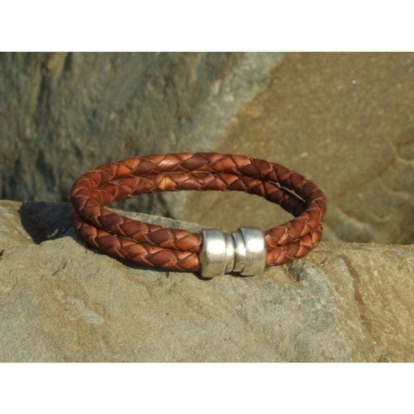 COZY DETAILZ -  braided leather bracelet, double strand bracelet, hipster braided bracelet - Bracelets