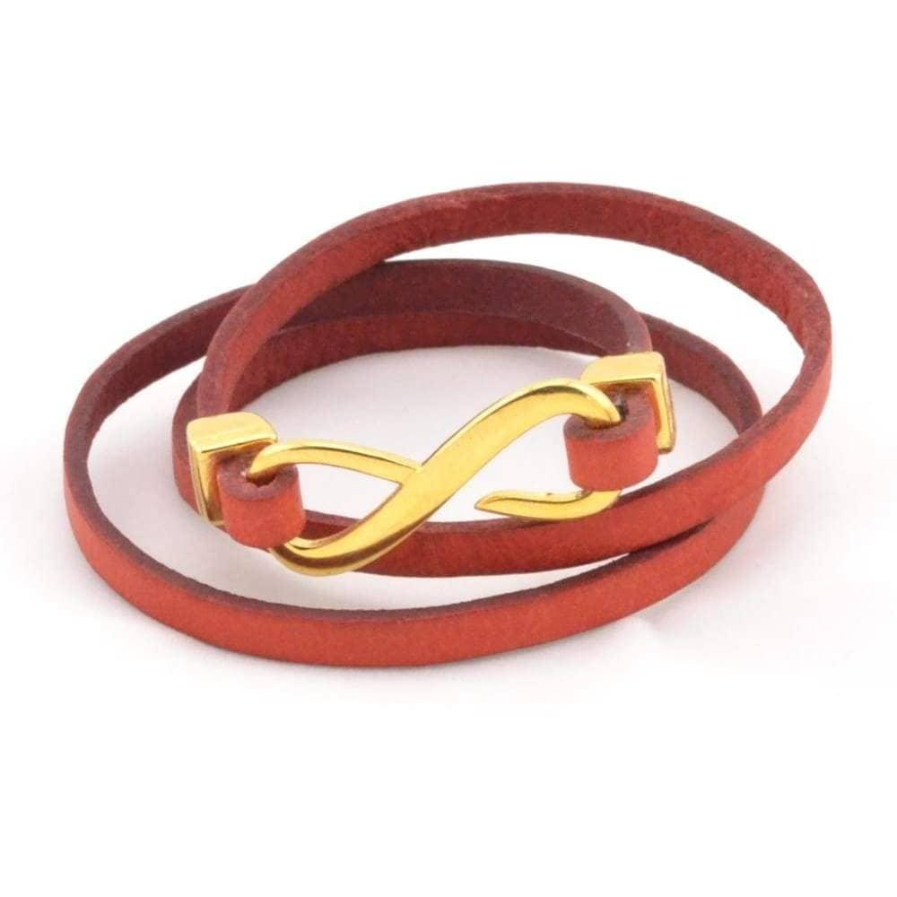 couples  triple wrap infinity leather bracelet