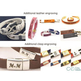 medical awareness leather bracelet