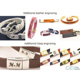 latitude longitude GPS leather bracelet