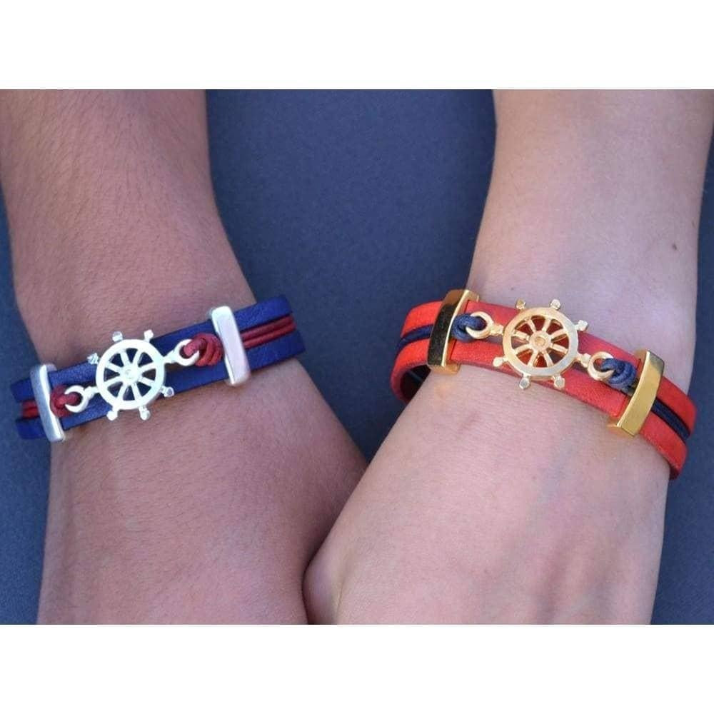 COZY DETAILZ - Bracelets -  leather bracelet with ship wheel