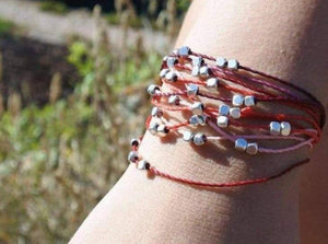 stackable boho bracelet, multistand bracelet, adjustable bracelet