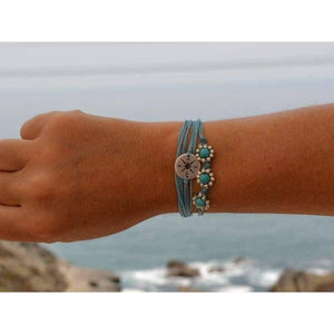 beaded flower string bracelet