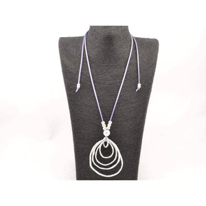 boho long necklace with infinity pendant