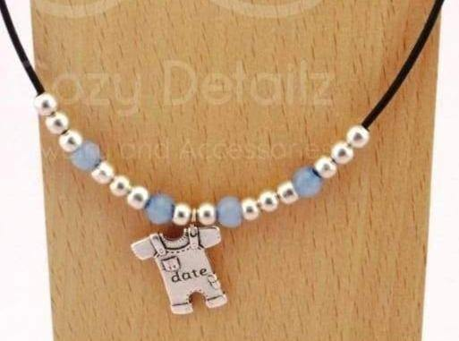 COZY DETAILZ - Necklaces -  leather necklace with kids name