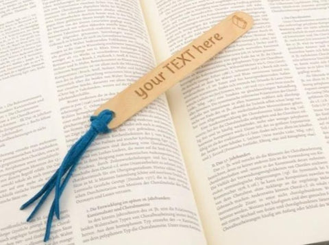 personalized bookmark, book lover gift, custom engraved wood bookmark-Accessories-COZY DETAILZ
