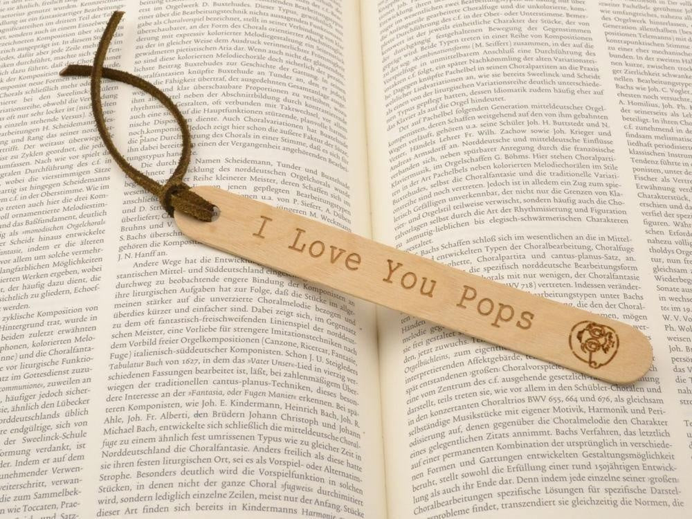 custom engraved wood bookmark