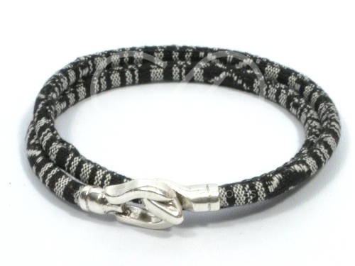double wrap ethnic bracelet with hook clasp