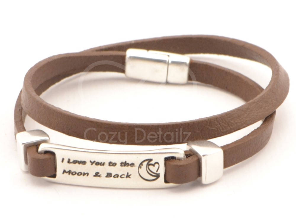 I Love You To The Moon And Back couples bracelet