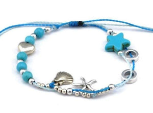 turquoise string anklet