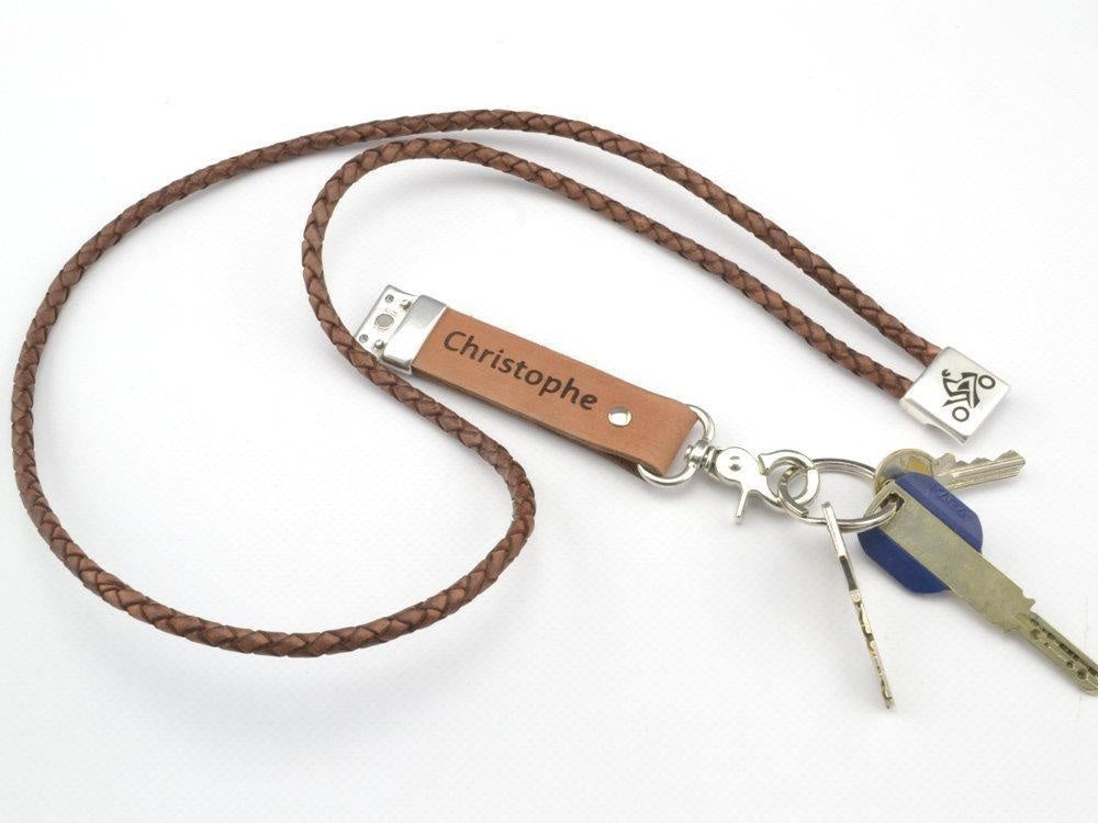 leather lanyard with custom engraving