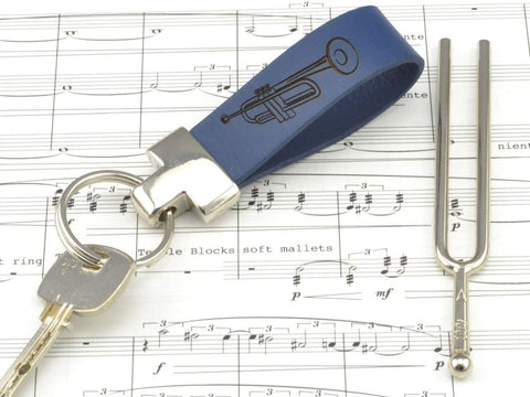 personalized music keychain, music instruments keychain, custom leather keychain-Accessories-COZY DETAILZ