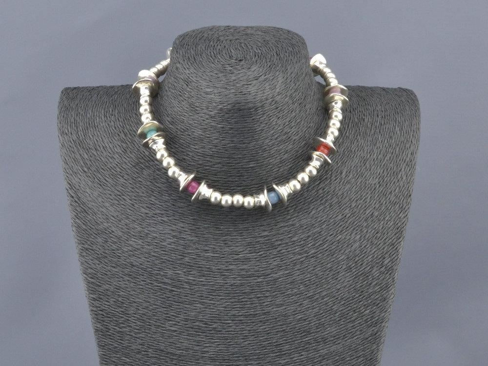 boho multicolor beaded necklace