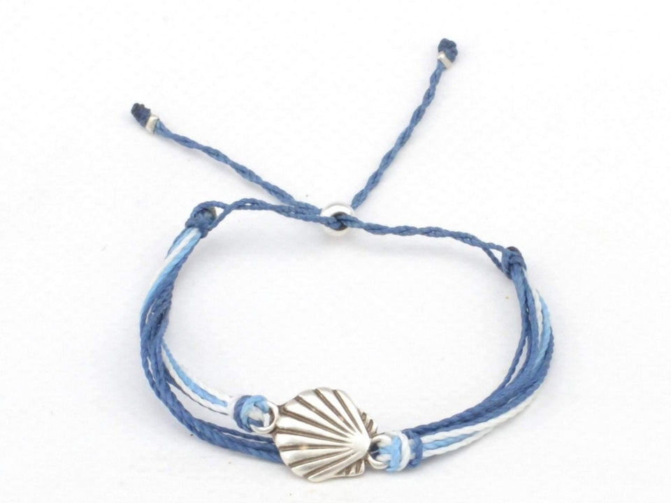 seashell charms string bracelets stack