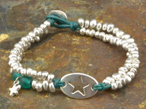 beaded bracelet with star charm