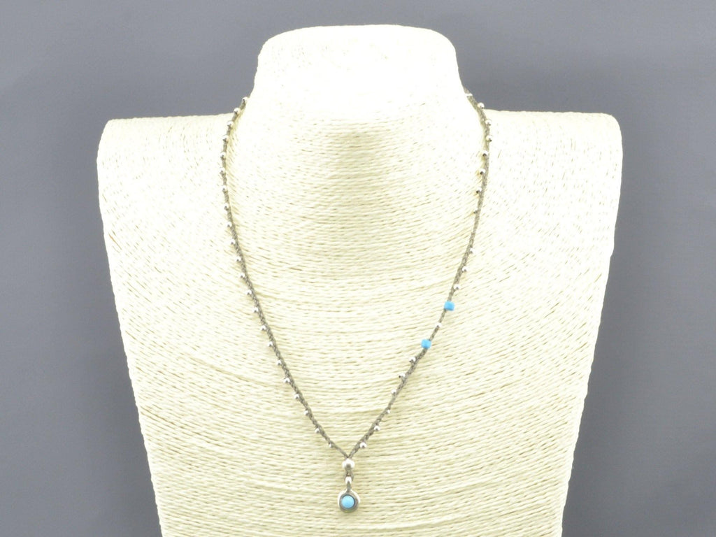 turquoise beaded beach necklace