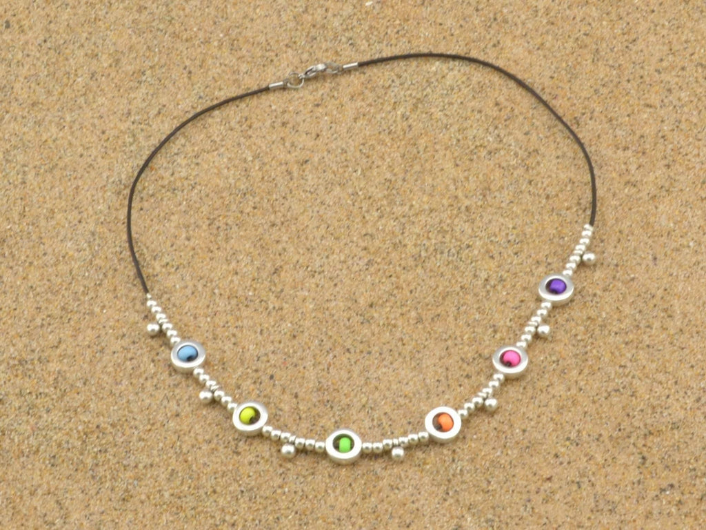 seed beaded choker necklace