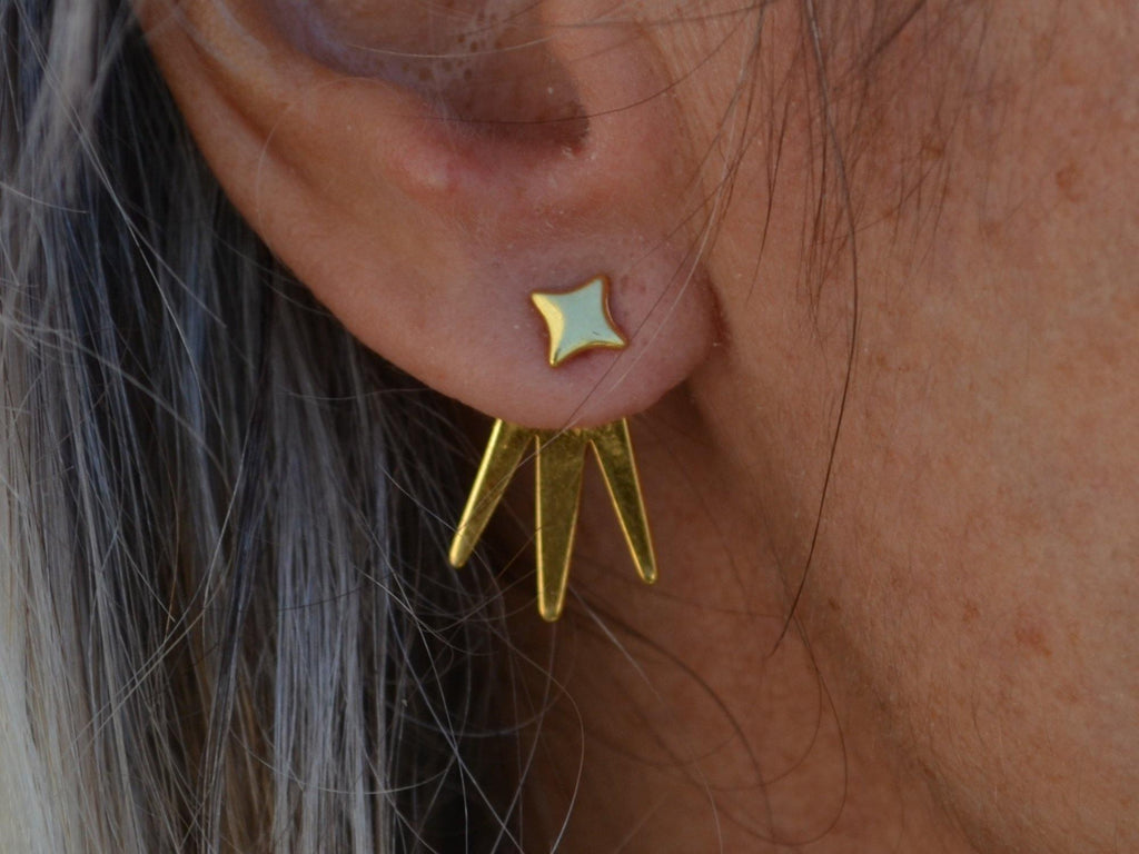 ear jackets with spikes