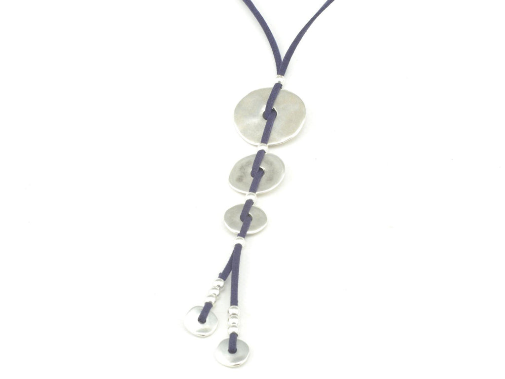 long necklace with silver washers