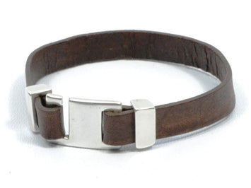 leather bracelet with hook clasp