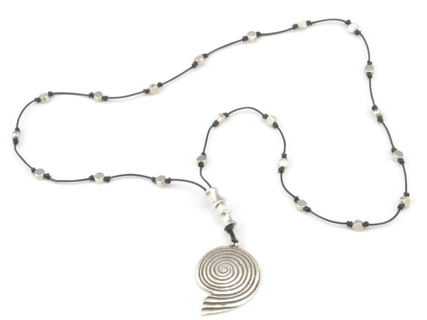 spiral long necklace for women
