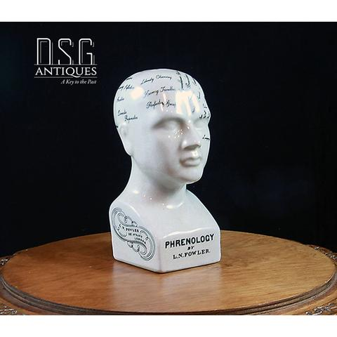 Phrenology Head, Phrenology Bust, Porcelain Statue