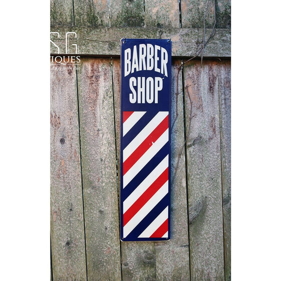 Barber Shop Tin-Vintage Style Metal Sign-Vertical Pole Sign-20 By 5 Memorabilia Sign-Haircut Sign-Vintage Tin Sign-Steampunk Tin Sign