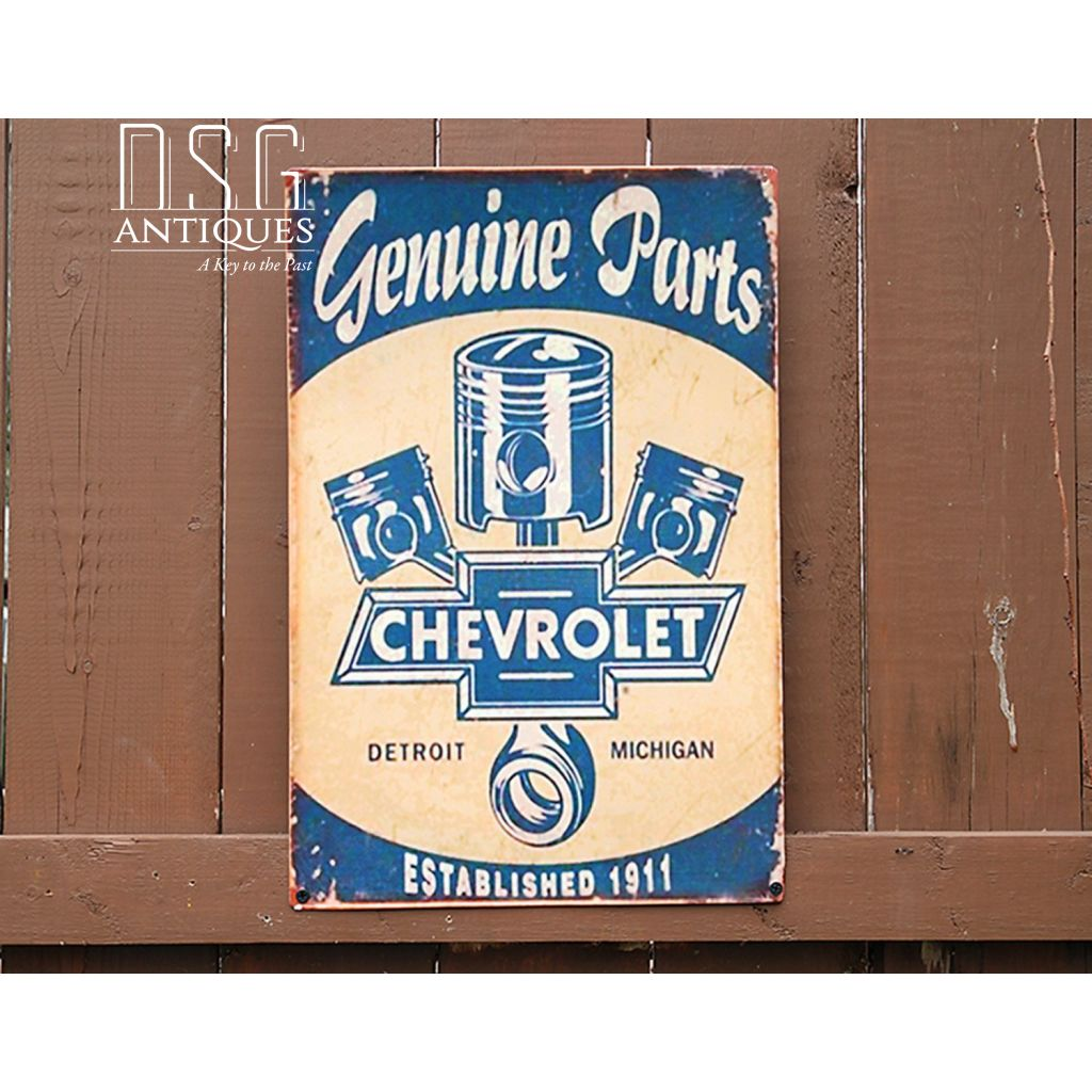 Chevrolet Genuine Parts Vintage Style Tin Sign, Vintage Style 1911 Che