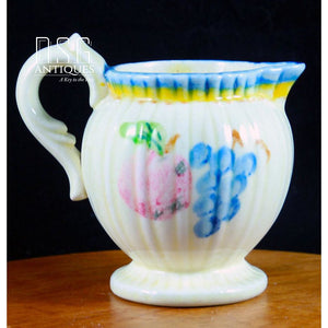 Hand Painted Creamer Vintage Farm Country