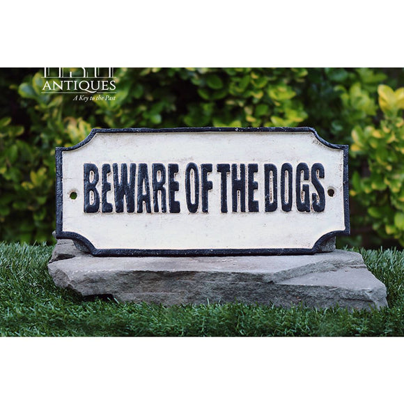 Homart Beware Of Dogs-Plaque-Primitive Sign-Cast Iron Sign-Indoor/outdoor Sign-Canine Sign-Pet Sign-Animal Sign-Dog Sign-Vintage Sign