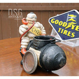Michelin Man On Compressor-Bibendum Man- Vintage Bibelobis