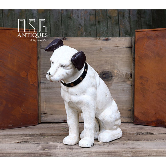 Rca Nipper Dog 10.50 Inches-Cast Iron Xlarge-Rca Victor Cast Collectible