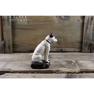 Rca Nipper Dog 4.25 Inches With Base-Cast Iron Dog-Rca Victor Cast Collectible